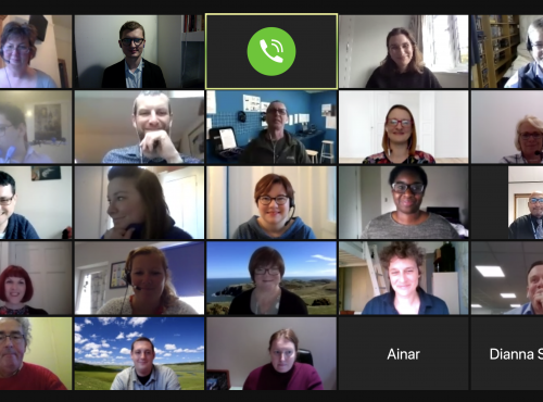 Screenshot of meeting attendees on Zoom