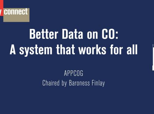 Image reads: Better Data on CO: A system that works for all