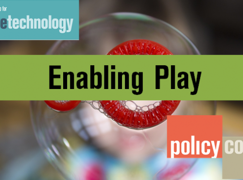 All-Party Parliamentary Group for Assistive Technology; Enabling Play; Policy Connect; background image of bubbles