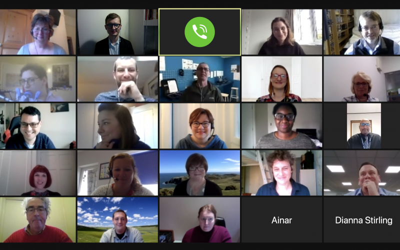 Screen shot of meeting attendees taken over Zoom